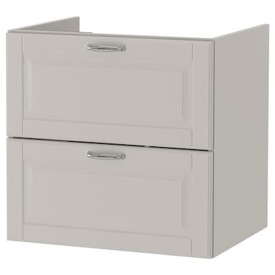 GODMORGON Mobile per lavabo con 2 cassetti, Kasjön grigio chiaro, 60x47x58 cm