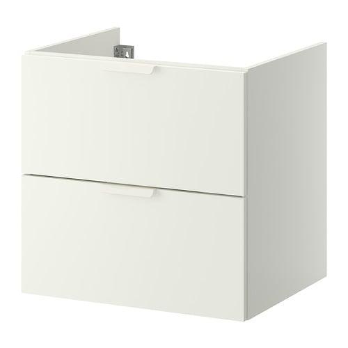 Godmorgon mobile per lavabo con 2 cassetti bianco for Ikea bagno mobili lavabo