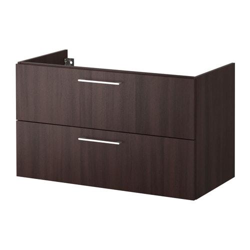 GODMORGON Mobile per lavabo con 2 cassetti - marrone-nero ...
