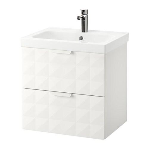 GODMORGON / ODENSVIK Mobile per lavabo con 2 cassetti - effetto ...