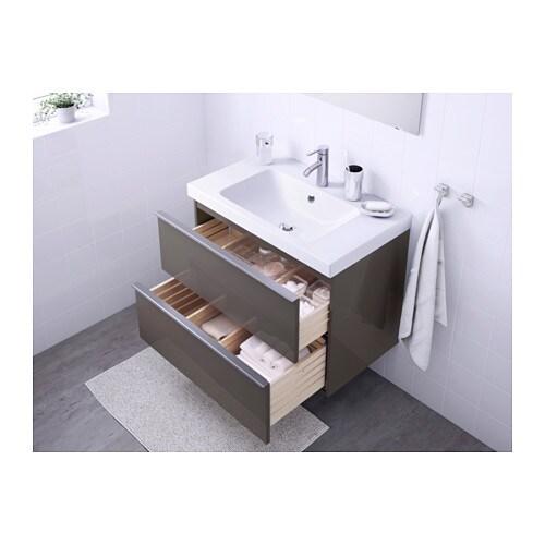 godmorgon / odensvik mobile per lavabo con 2 cassetti - lucido ... - Lucido Cabinet Grigio Lavandino