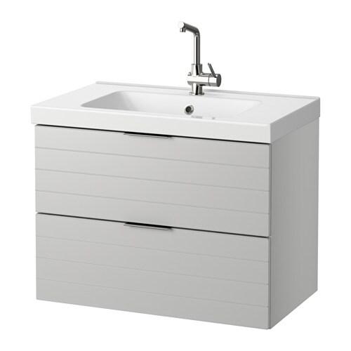 GODMORGON / ODENSVIK Mobile per lavabo con 2 cassetti - lucido ...