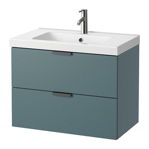 godmorgon / odensvik mobile per lavabo con 2 cassetti - grigio ... - Mobile Soggiorno Turchese 2