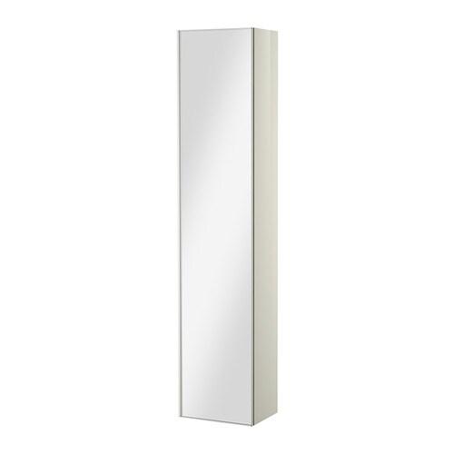 Godmorgon mobile alto con anta a specchio lucido bianco - Specchio bianco ikea ...
