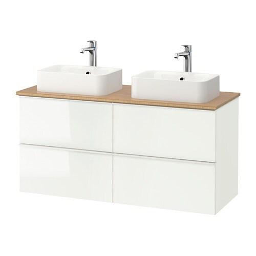 Godmorgon tolken h rvik mobile lavabo lavabo45x32 per piano bamb lucido bianco ikea - Lavandini bagno ikea ...