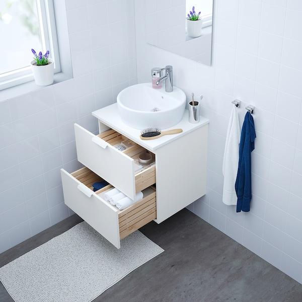 GODMORGON/TOLKEN / TÖRNVIKEN Mobile/lavabo 45/piano appoggio, bianco/bianco Miscel Dalskär, 62x49x74 cm