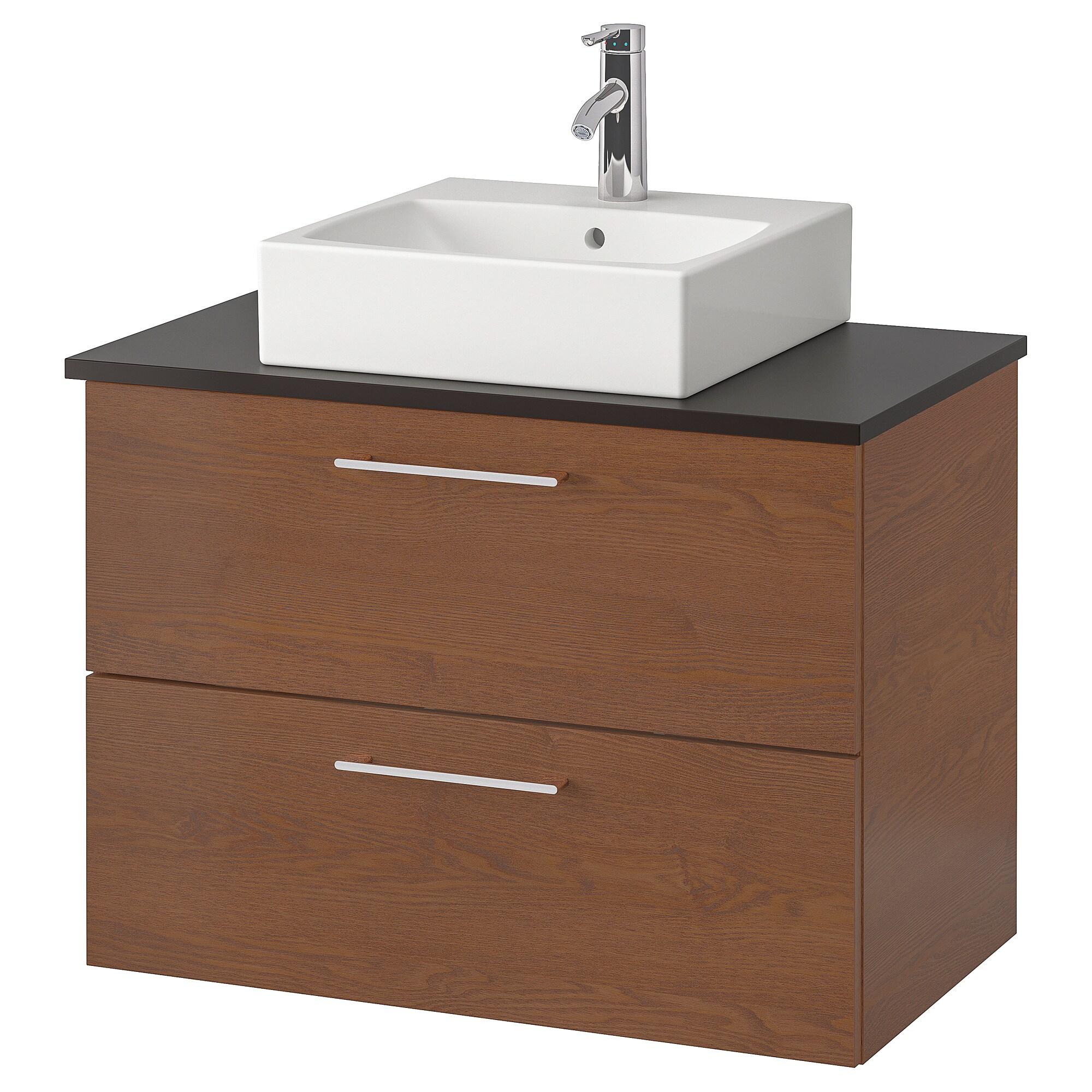 GODMORGON/TOLKEN / TÖRNVIKEN Mobile/lavabo 45x45/piano di ...