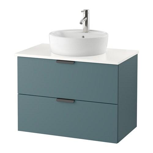 Godmorgon tolken t rnviken mobile lavabo 45 piano appoggio bianco grigio turchese ikea - Mobile lavabo ikea ...