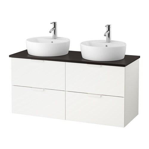 Godmorgon tolken t rnviken mobile lavabo 45 piano appoggio antracite bianco ikea - Mobile lavabo ikea ...