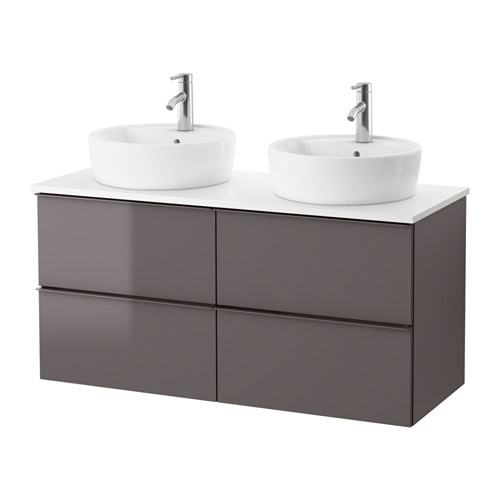 Godmorgon tolken t rnviken mobile lavabo 45 piano appoggio bianco lucido grigio ikea - Mobile lavabo ikea ...