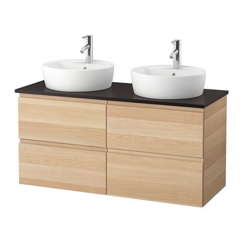 Godmorgon tolken t rnviken mobile lavabo 45 piano appoggio antracite effetto rovere con - Mobile lavabo ikea ...