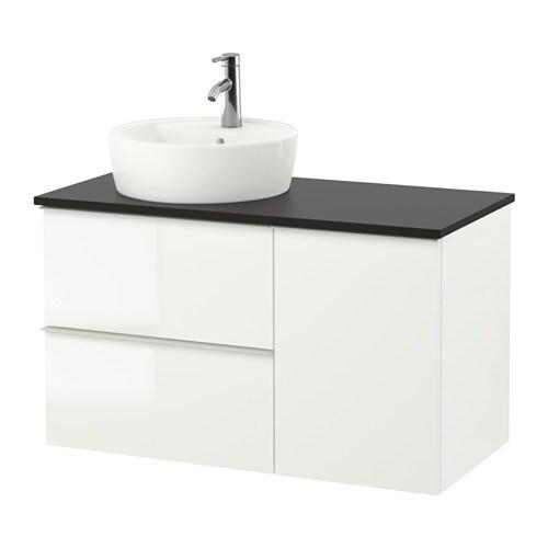 Godmorgon tolken t rnviken mobile per lavabo con lavabo 45 antracite lucido bianco ikea - Mobile lavabo ikea ...