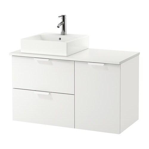 GODMORGON/TOLKEN / TÖRNVIKEN Mobile per lavabo con lavabo 45x45 ...