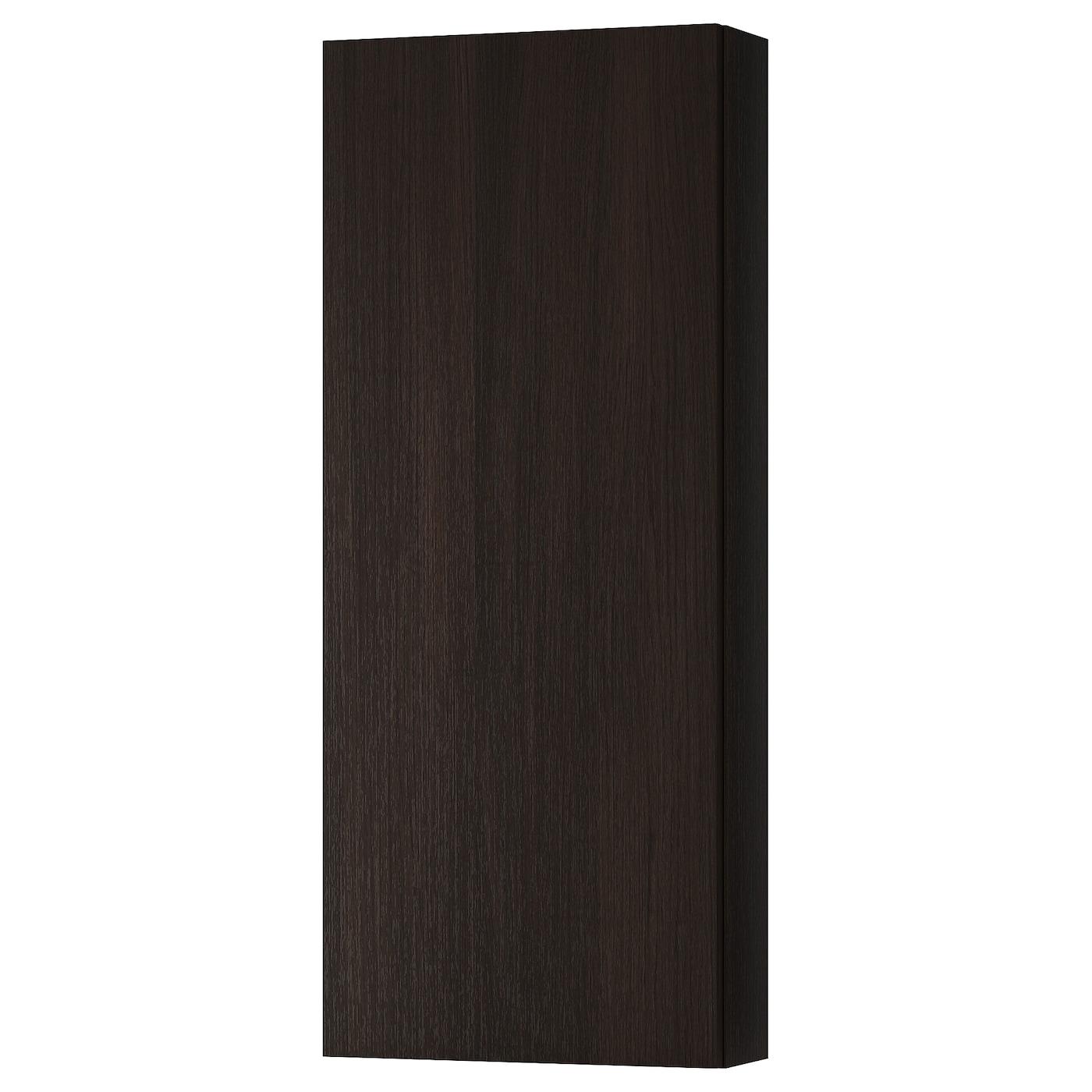 Binario Pensili Cucina Ikea godmorgon pensile con 1 anta - marrone-nero marrone-nero 40x14x96 cm