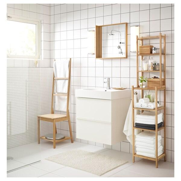 GODMORGON Mobile per lavabo con 2 cassetti lucido bianco 60x47x58 cm