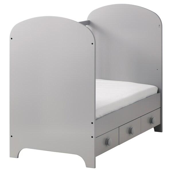 GONATT lettino grigio chiaro 123 cm 66 cm 103 cm 60 cm 120 cm 20 kg
