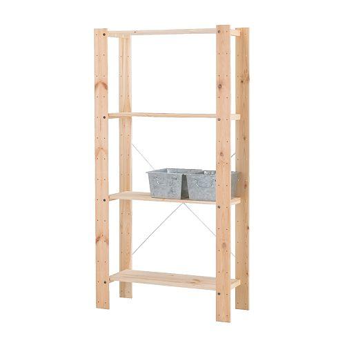 Ambienti di servizio sistema di scaffali componibile e altro ikea - Ikea scaffali in legno ...