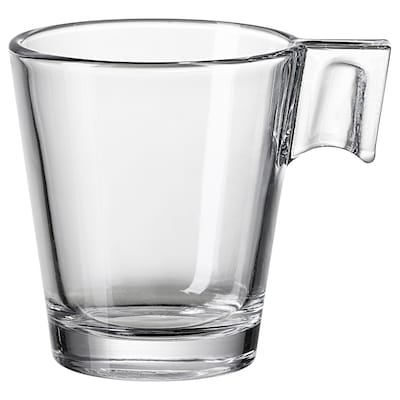 GOTTFINNANDE tazzina da espresso vetro trasparente 6 cm 8 cl
