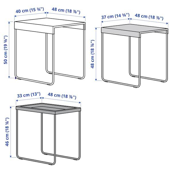 GRANBODA Set di 3 tavolini