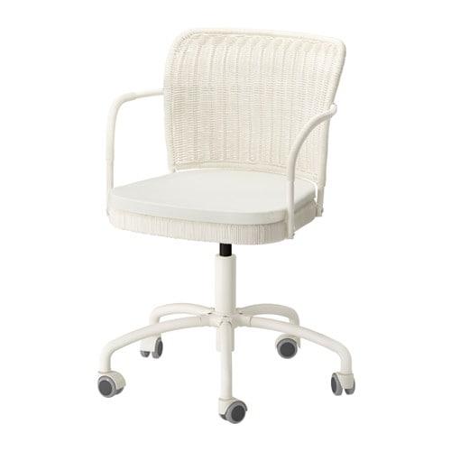 Gregor sedia da ufficio bianco vittaryd beige chiaro for Sedia da ufficio ikea
