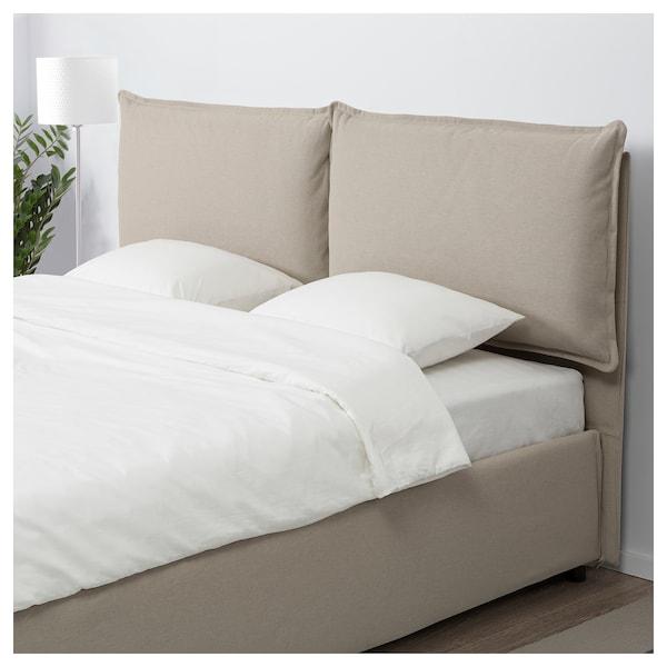 Ikea Cuscini Per Testiera Letto.Gressvik Fodera Struttura Letto 2 Cuscini Orrsta Beige Ikea