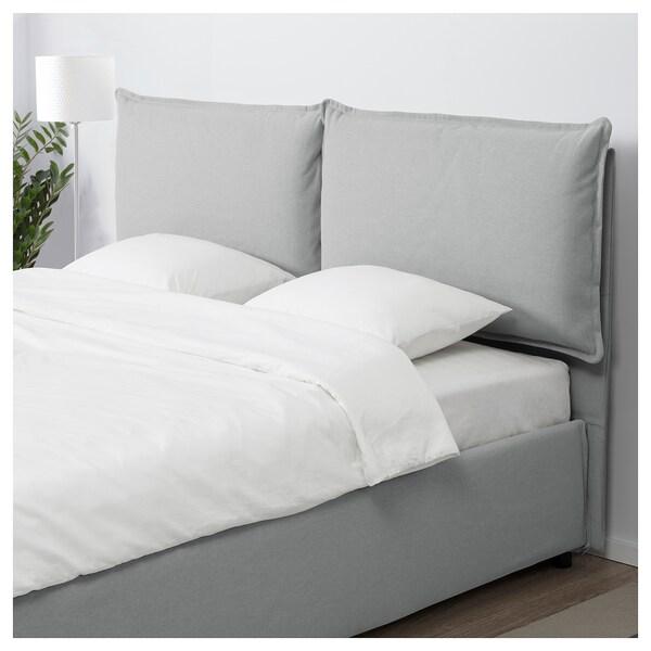 GRESSVIK struttura letto con contenitore grigio chiaro 208 cm 175 cm 38 cm 108 cm 200 cm 160 cm