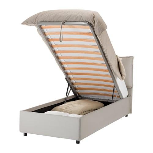 Gressvik struttura letto con contenitore sabbia ikea - Ikea letto singolo con contenitore ...