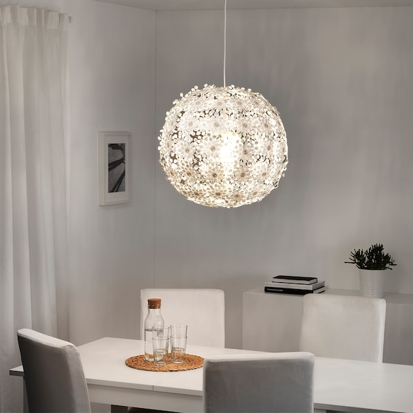 GRIMSÅS Lampada a sospensione, bianco, 55 cm