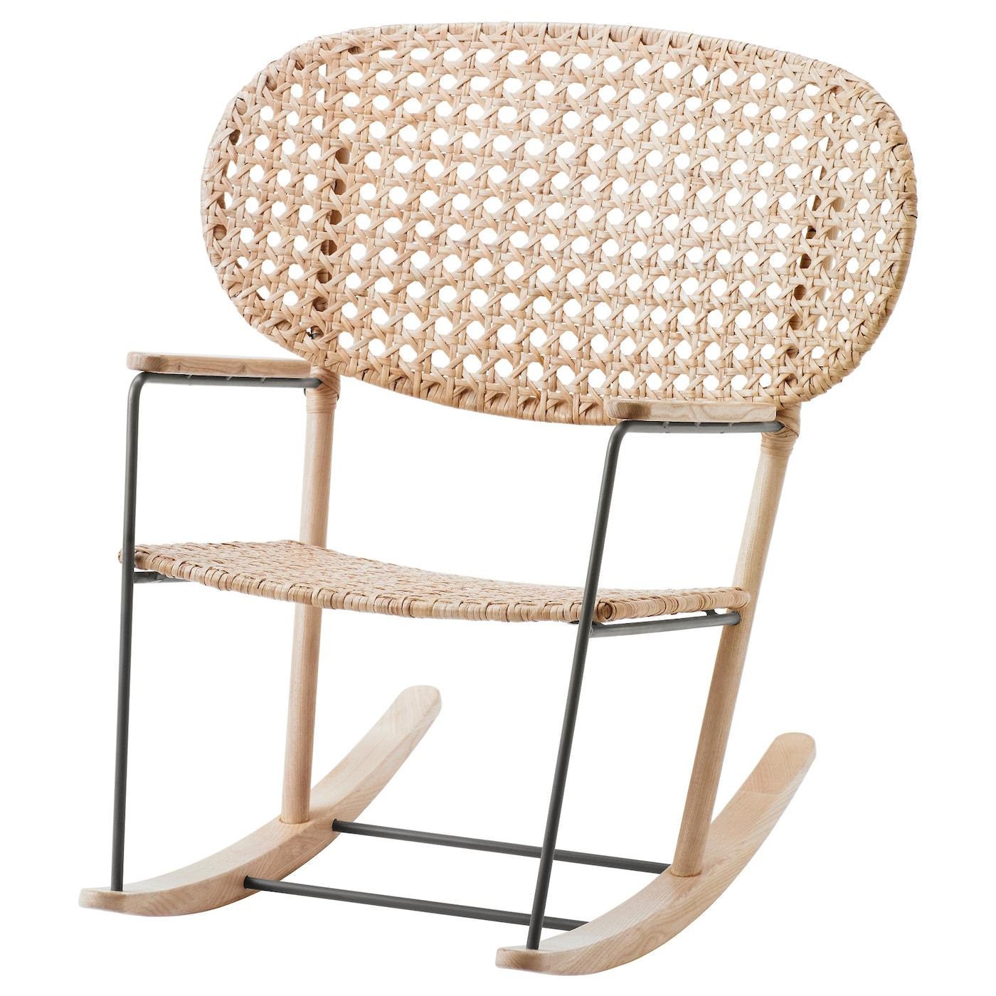 Ikea Mobili In Vimini grÖnadal sedia a dondolo - grigio, naturale