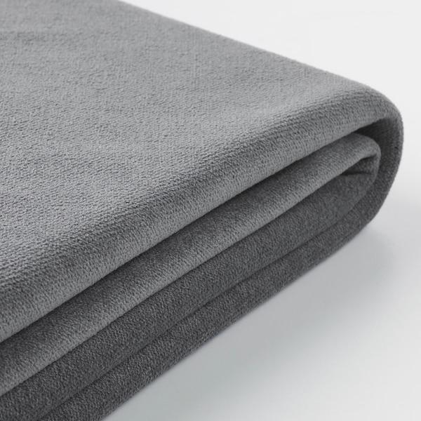 GRÖNLID Fodera divano letto angolare 5posti, con chaise-longue/Ljungen grigio fumo