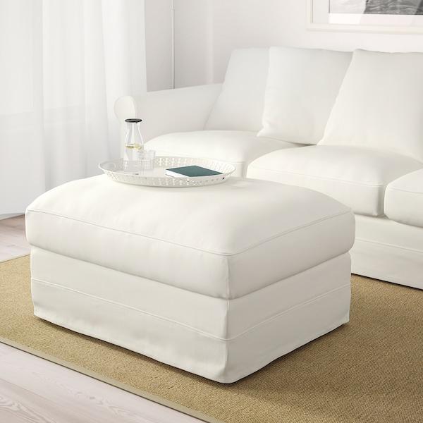 GRÖNLID Poggiapiedi con contenitore, Inseros bianco