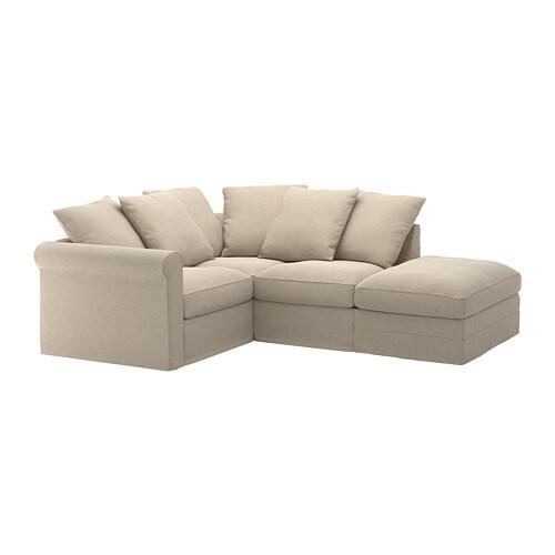 gr nlid divano angolare a 3 posti con terminale aperto