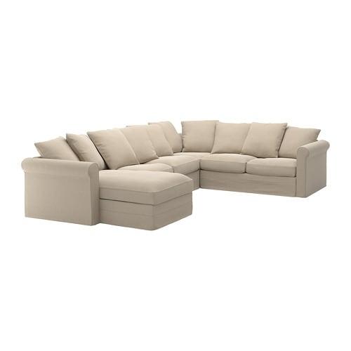Gr nlid divano angolare a 5 posti con chaise longue sporda naturale ikea - Ikea divano chaise longue ...
