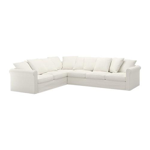 Gr nlid divano angolare a 5 posti inseros bianco ikea - Divano angolare bianco ...