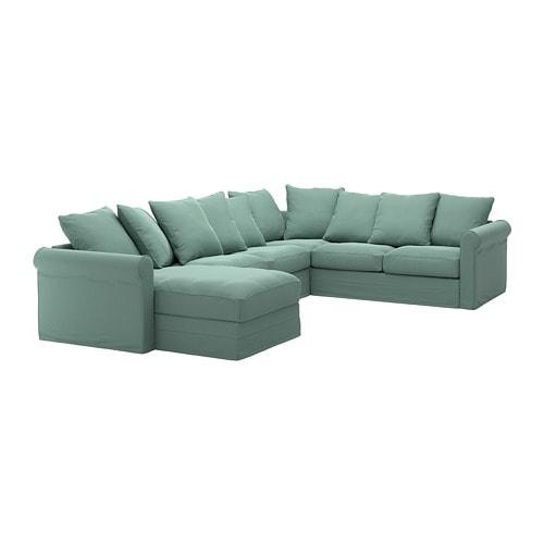 Gr nlid divano angolare a 5 posti con chaise longue - Divano verde ikea ...