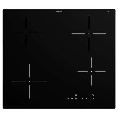 GRUNDAD Piastra a induzione, IKEA 300 nero, 59 cm