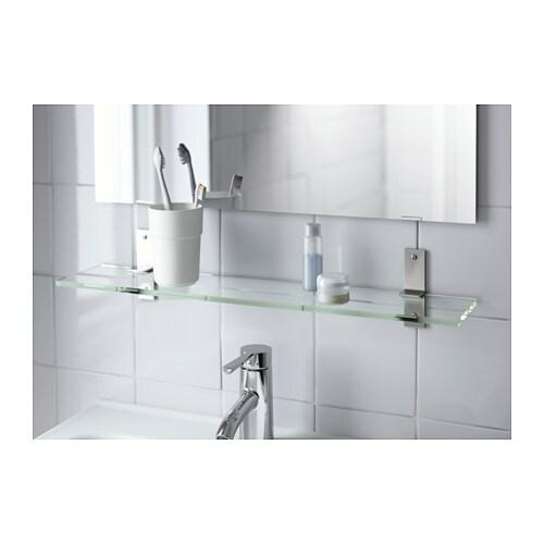 Mensola in vetro porta oggetti arredo bagno mis 60 x 12 for Oggetti arredo bagno