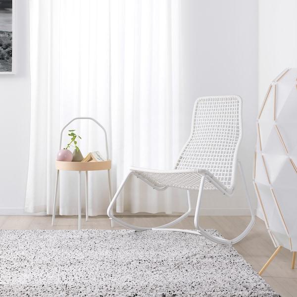 GUBBÖN sedia a dondolo, da interno/esterno bianco 65 cm 96 cm 101 cm 56 cm 49 cm 51 cm