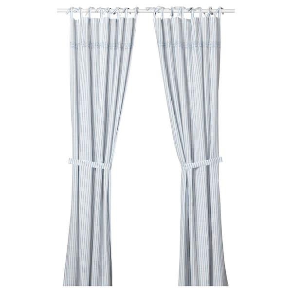 Gulsparv Tenda Con Bracciale 2 Teli A Righe Blu Bianco 120x300