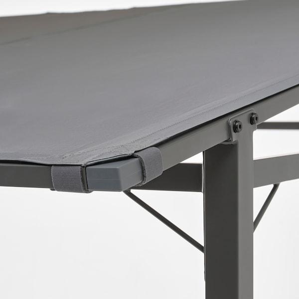 GUNNÖN Gazebo, grigio scuro/grigio, 238x233 cm