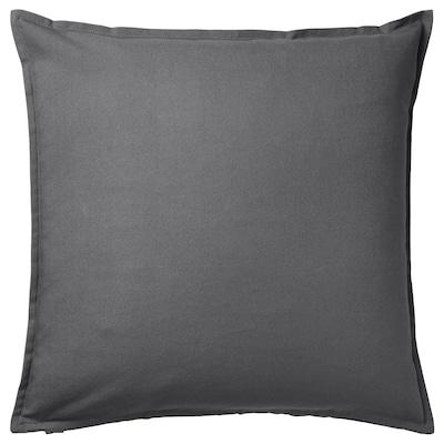 GURLI Fodera per cuscino, grigio scuro, 50x50 cm