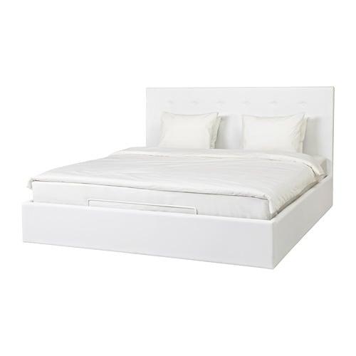 Gvarv struttura letto con contenitore 160x200 cm ikea - Letto ikea bianco ...