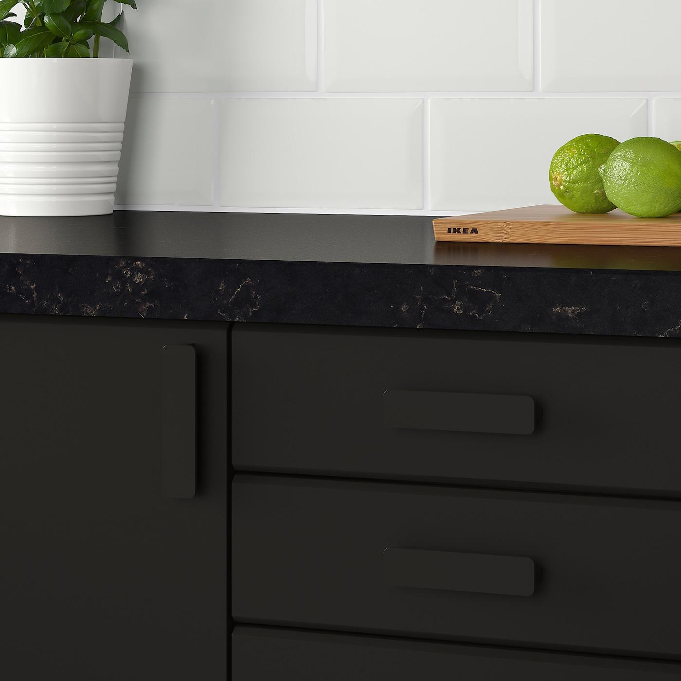 Pannelli Rivestimento Cucina Ikea hackÅs maniglia - antracite 100 mm