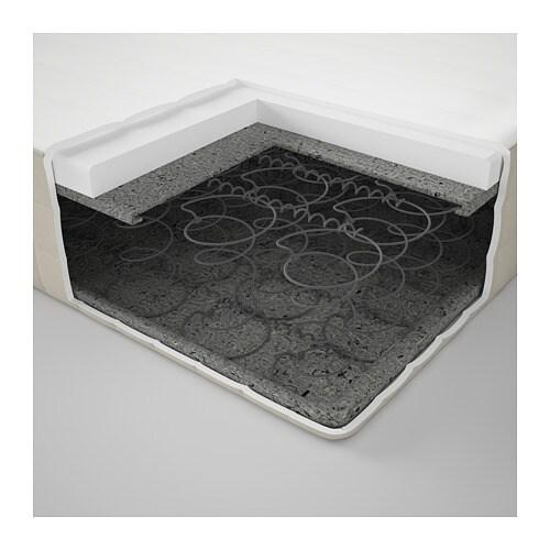 HAFSLO Materasso a molle - 90x200 cm, rigido/beige - IKEA