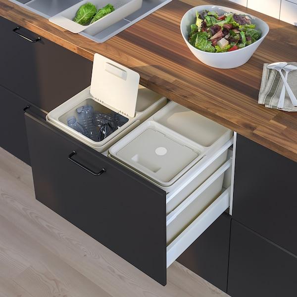 HÅLLBAR Soluzione raccolta differenziata, per il cassetto della cucina METOD/grigio chiaro, 44 l