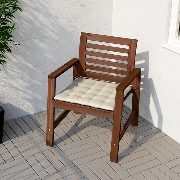 Cuscini Per Sedie Giardino Ikea.Hallo Cuscino Per Sedia Da Esterno Beige 50x50 Cm Ikea