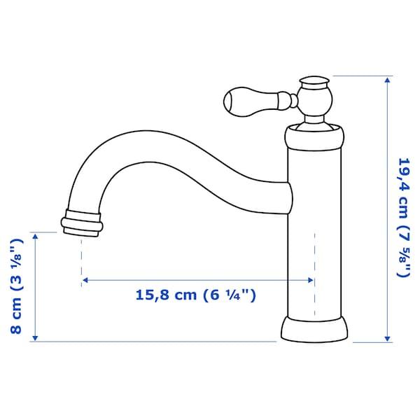 HAMNSKÄR Miscelatore lavabo/valvola scarico, color ottone