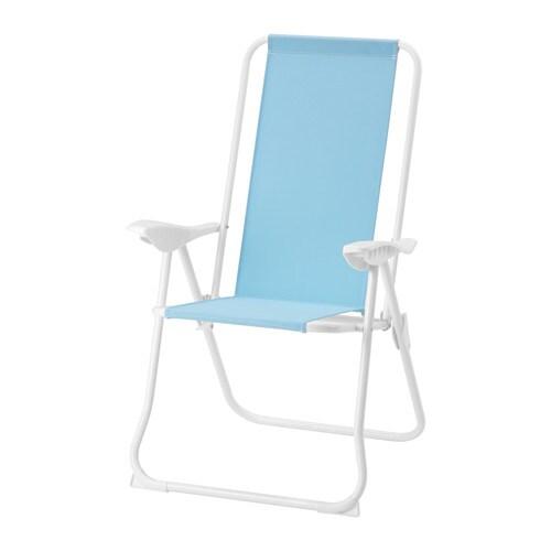 H m sedia relax pieghevole azzurro ikea for Sedia pieghevole ikea