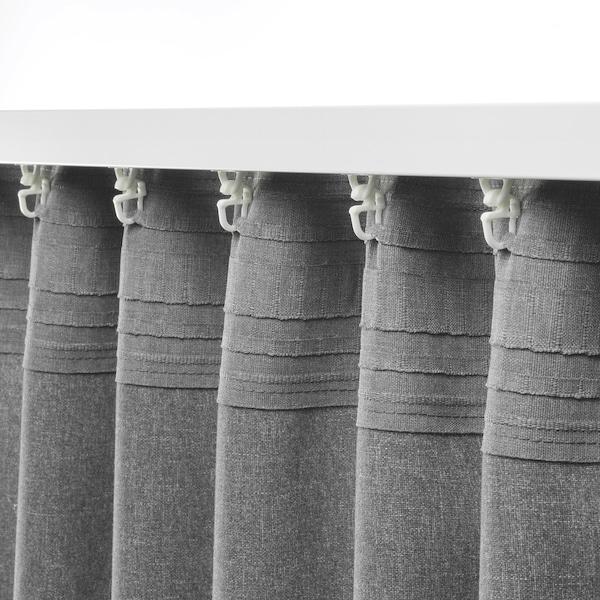 HANNALENA Tenda semioscurante, 2 teli, grigio, 145x300 cm