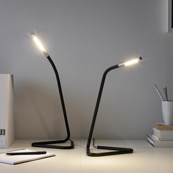 HÅRTE lampada da lavoro a LED nero/color argento 100 lm 32 cm 12 mm 1.9 m 3.0 W
